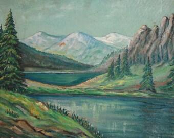 1964 Impressionist Painting Landscape, Signed