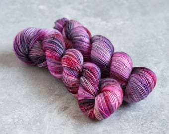 This is Not a Love Song - Hand Dyed Sparkle Merino/Nylon 1 skein 100g