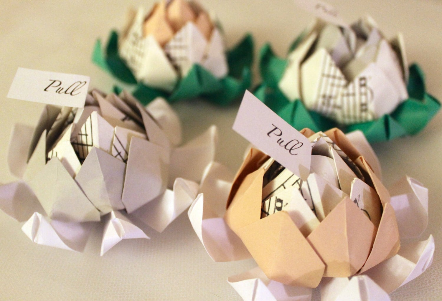 Fifty 50 Origami Lotus Blossom Wedding Favors With