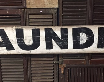 """7"""" x 48"""" Laundry"""" vintage style sign."""