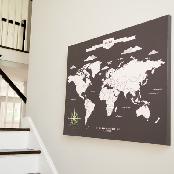 World map art interactive family map mark the places gumiabroncs Images