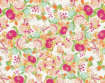 Flowerfield in Sunrise - Wild Bloom by Bari J. - Art Gallery Fabric Quilting Cotton 1/2 Yard+