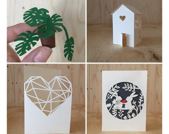 Paper Craft, 3D Papercraft, DIY kit, Adult Craft Kit, , Best Friend Gift, Papercutting kit, papercut kit, Birthday gift, Craft supplies,