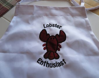 Apron for the Lobster Lover- Appliqued lobster with personalized words