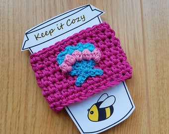 Mermaid Shell Cozy, Coffee Cozy, Sea Shell, Mermaid Cosie, Takeaway Cup Cozy, Pink Cosie, Blue Shell,