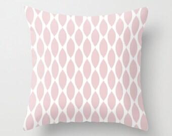 Pink Pillow Cover, Ikat Pillow, Girls Room Decor, Dorm Decor, Pink Cushion, Velvet Pillow, Pink Throw Pillow, Velvet Cushion, 18x18, 22x22