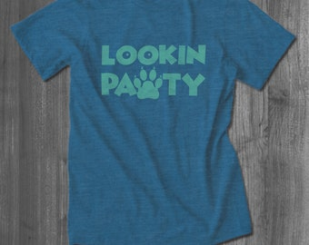 Lookin Pawty Pet T shirt cat dog animal lover tops and tees t-shirts t shirts| Free Shipping