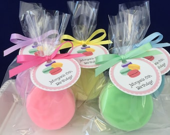 French Macaroon Soap Favors - Set of 10 - Macaroon Party Favors - Birthday Favors - Bakery Soap Favors - Soap Party Favors - Baby Shower