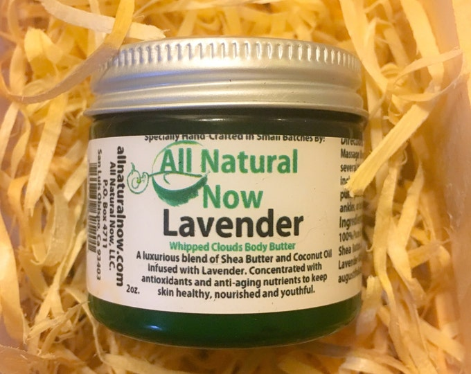 Lavendar Whipped Body Butter/100% Pure & Therapeutic Essential Oils/Antioxidants/Anti-Aging