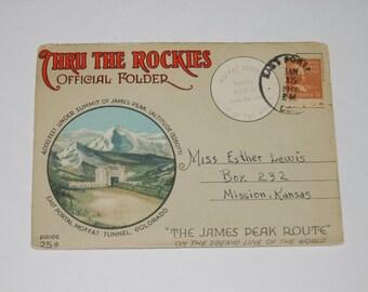 Thru the Rockies Denver & Rio Grande Western Railroad Photo cards 1946