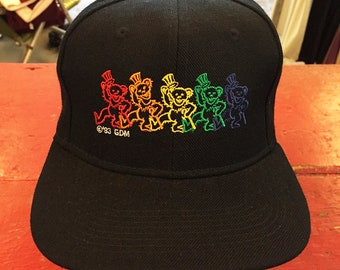 Grateful Dead - Rainbow Bears Dancers Trucker Hat (New Old Stock)