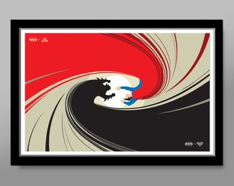 Batman VS. Superman SWITCHABLE Minimalist Poster - Print 176 - Home Decor