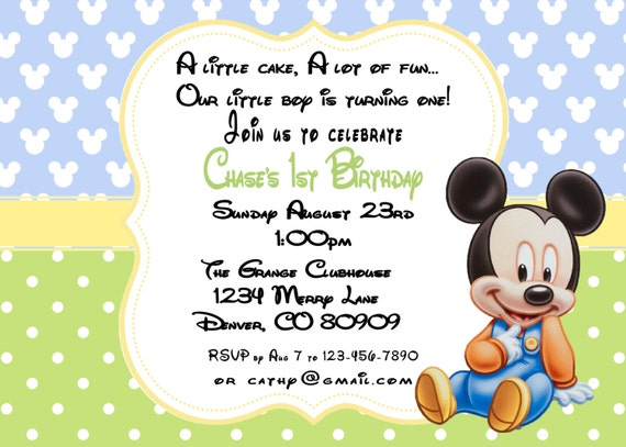 Printable pdf mickey mouse birthday 1st birthday invitation filmwisefo Images