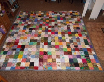 Full Quilts - Custom Made Quilt - Scrappy Patchwork Quilt -  Full Size Quilts / Double Bed Quilts / Full Payment