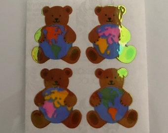 Vintage Sandylion Pearl Bear World Stickers