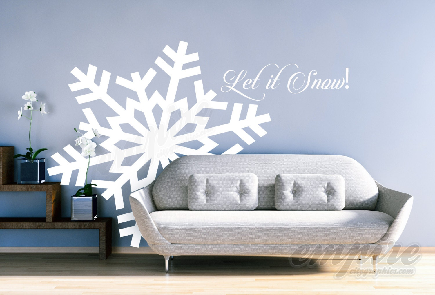 Large Snowflake Decals, Giant Snowflakes, Holiday Decals, Let It Snow Decal,  Frozen Decals, Snow Wall Decals, Let It Go Decals, Frozen Decor