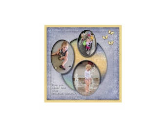 12x12 Digital Scrapbook Template (190)