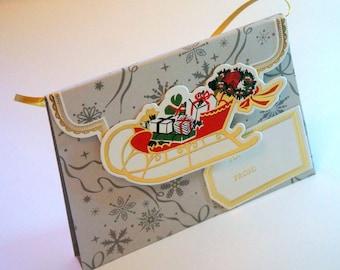 Christmas Gift card holder, Seasonal Gift Card Holder, Holidays Gift Card Holder, Handbag Gift Card Holder, Christmas gift