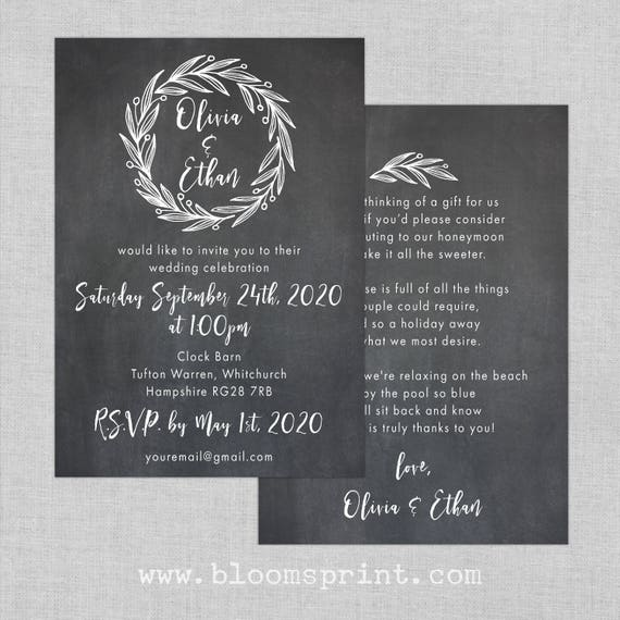 Garden wedding invitation set, Rustic wreath wedding invitation suite, Rustic barn wedding invitations UK, Outdoor wedding invites, A6
