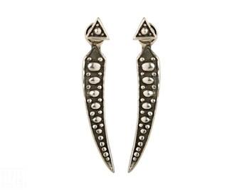 Sterling Silver Ear Jacket Earrings Sunshine Ear Cuff Earrings Boho Jewelry - JKT004SSO