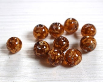 Vintage look sommerso glass beads