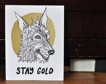 Screen Print - Stay Gold Dog