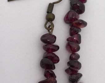 Deep Purple Shell Earrings