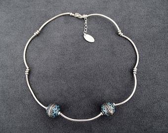 Blue East cloud necklace