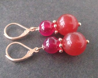 Earrings: Princess - two hot colors