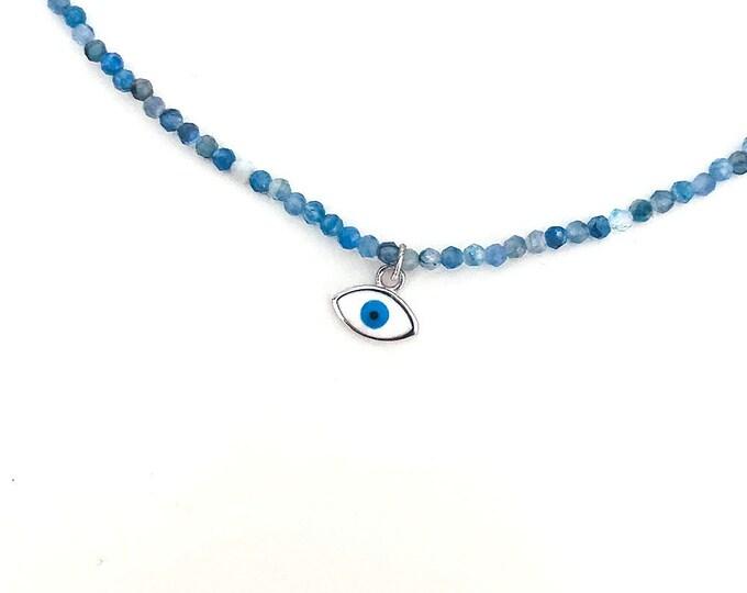 kyanite with eye pendant Choker