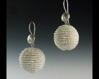 Seed pearl earrings, pearl baubles, freshwater pearls, FWP earrings, pearl earrings, wedding earrings, wedding, weddings