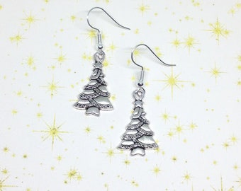 Christmas Tree Earrings, Xmas Earrings, Tree Earrings, Festive Earrings, Xmas Jewellery, Xmas Tree Earrings, Festive Gift, Stocking Filler