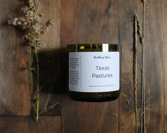 Wine candle // Wine bottle candle // Texas candle // Soy candle // Small batch candle