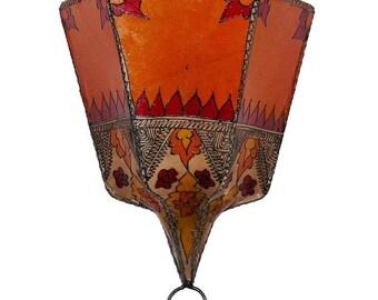 Oriental lamp Wall lamp henna leather 1001 nights