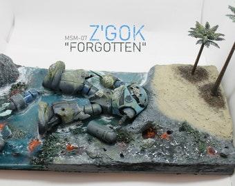 """MSM-07 Z'gok """"Forgotten"""" Gundam Diorama"""