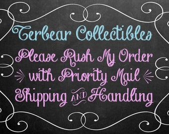 Rush Order with priority s&h for inventory rubber stamp orders