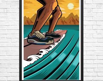 Bluu Max 97 13 x 19 Giclee Art Print