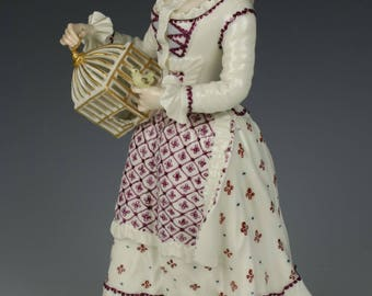 """Nymphenburg figurine 1207 """"Lady with Cage"""""""