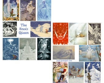 SNOW QUEEN Digital Collage Set