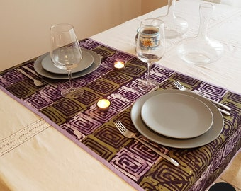 West African cotton print table runner