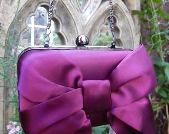 Handbag Hardback, Vintage Styled Bag,Handbag, Chain Handle Bag, Evening Bag, Clutch Bag, Fashion Bag, Bow Bag, Fashion Bag