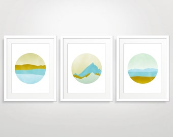 Wall Art Prints Set of 3, Scandinavian Prints, Modern Art Abstract, Art Prints Abstract, Mid Century Art, Pastel Abstract Art, Nordic Art