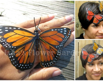 Large Monarch butterfly hair clip, butterfly accessories