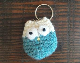 Owl Keychain, Crochet Owl Keyring, Handmade Key Holder