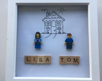 Personalised Lego Art Housewarming New House
