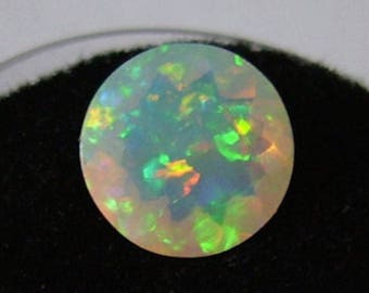Genuine Natural Ethiopian Opal (Welo Opal) Round Cabochon Loose Stones (3mm - 10mm)