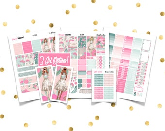 FLORAL GLAM Weekly Kit // Printable Planner Stickers / Erin Condren Plum Paper Happy Planner Filofax Inkwell Press Floral March Summer Girl