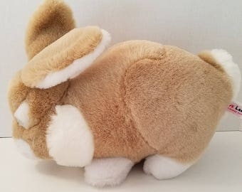 Vintage Bunny Rabbit Realistic Love Land Windsor Toys Brown 13 Inches 1985 Plush Stuffed Animal Toy