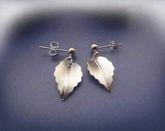 Silver Leaf Earrings  - Simple And Lightweight - Nickel Free