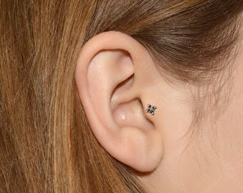 SALE - Surgical Steel Helix Piercing - Tragus ring stud, cartilage earring, conch jewelry